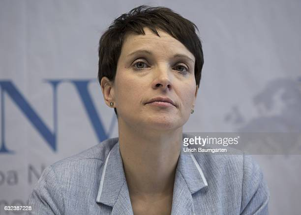 Congress Europe of Nations and Freedom of the ENF group in the European Parliamnet in Koblenz Frauke Petry during the press conference
