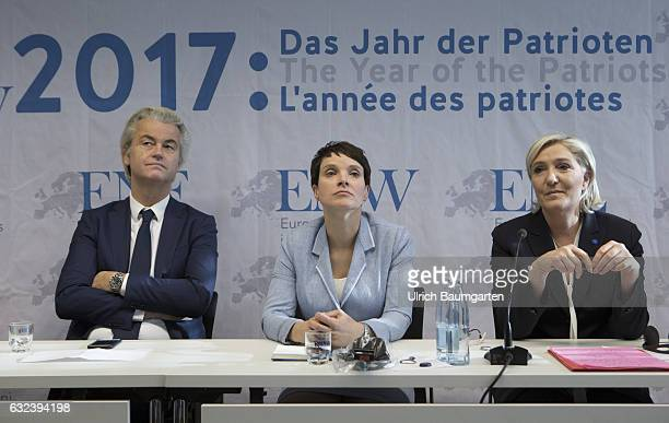 Congress Europe of Nations and Freedom of the ENF group in the European Parliament in Koblenz Geert Wilders chairman of the Partij voor de Vrijheid...