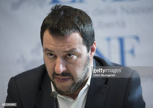 Congress Europe of Nations and Freedom of the ENH group in the European Parliament in Koblenz Matteo Salvini member of the Lega Nord in Italy during...