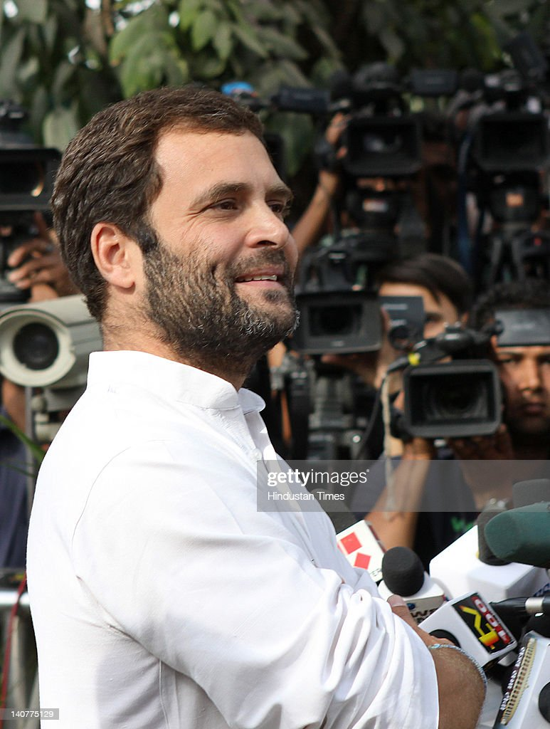 Congress General Secretary <a gi-track='captionPersonalityLinkClicked' href=/galleries/search?phrase=Rahul+Gandhi&family=editorial&specificpeople=171802 ng-click='$event.stopPropagation()'>Rahul Gandhi</a> addresses the media on Assembly election result, at 10 Janpath, on March 6, 2012 in New Delhi, India. Accepting the responsibility for the poor show of his party in Assembly elections in Uttar Pradesh he said that party need to strengthen its structure in the state.Congress with its ally RLD managed to win only 38 out of 403 assembly seats in Uttar Pradesh.