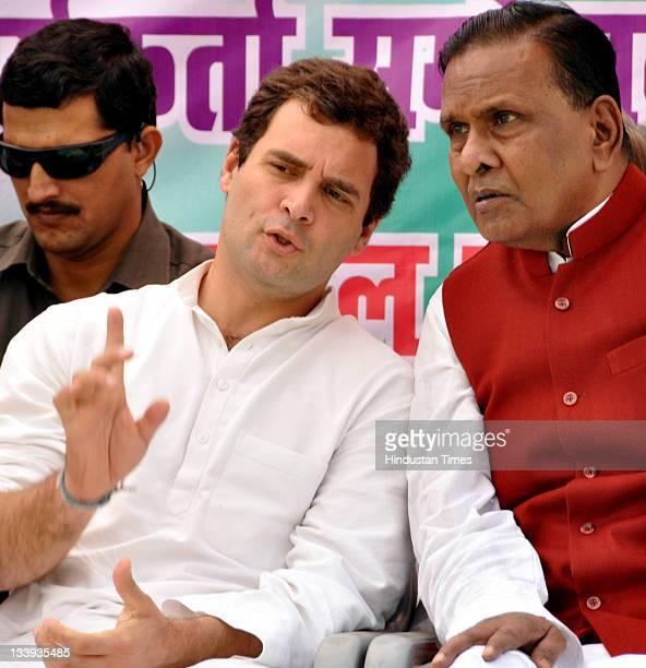 Congress general secretary Rahul Gandhi with Bene Prasad Verma kick starts his public and workers contact from Rajkiye Inter college on November 22...