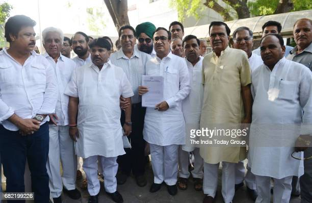 Congress leader Ajay Maken after meeting with Election Commissioner at Election Commission office in New Delhi