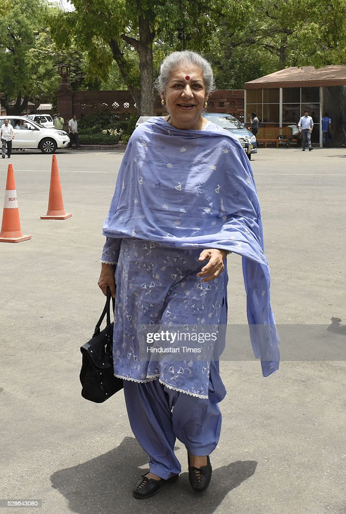 Congress leader Ambika Soni at Parliament during the budget session on May 6, 2016 in New Delhi, India. Mounting attack on Congress, Defence Minister Manohar Parrikar said in Lok Sabha said the previous UPA government had done everything to help AgustaWestland bag the chopper deal and asserted that the main beneficiaries of the kickbacks will be tracked so that may be we can do what we could not do in Bofors.