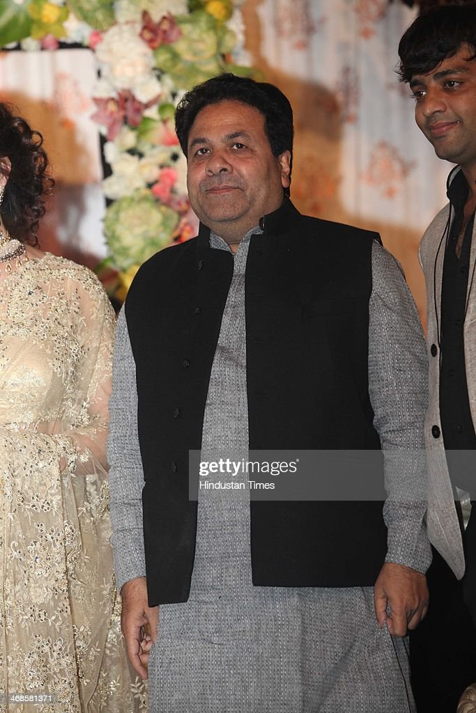 Congress leader and Union Minister of State for Parliamentary Affairs and Planning Rajeev Shukla during the wedding reception of Ahana Deol and Vaibhav Vohra on February 5, 2014 in New Delhi, India. Ahana, a budding Odissi dancer, is the daughter of Bollywood stars Dharmendra and Hema Malini while Vaibhav in an Indian businessman. They married on February 2, 2014 in Mumbai.