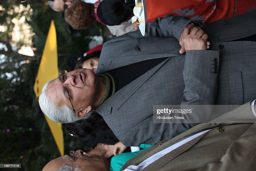 Congress leader Ashwani Kumar during Christmas party thrown by communication guru Dilip and Devi Cherian at Lodi Garden on December 22, 2012 in New Delhi, India.