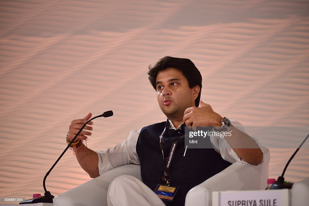 Congress leader Jyotiraditya Scindia speaks during session on The challenges before us on December 4, 2015 in New Delhi, India.
