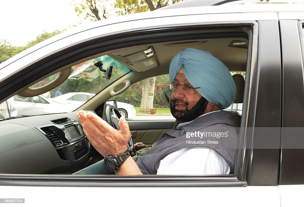 Congress MP <a gi-track='captionPersonalityLinkClicked' href=/galleries/search?phrase=Amarinder+Singh&family=editorial&specificpeople=2907726 ng-click='$event.stopPropagation()'>Amarinder Singh</a> during Budget session at Parliament house on February 24, 2015 in New Delhi, India. The government introduced the land acquisition amendment bill in the Lok Sabha amid an uproar by the opposition.