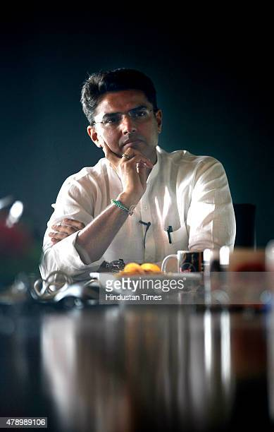 Congress MP from Ajmer Sachin Pilot during an exclusive interview with Hindustan Times at HT House on June 29 2015 in New Delhi India