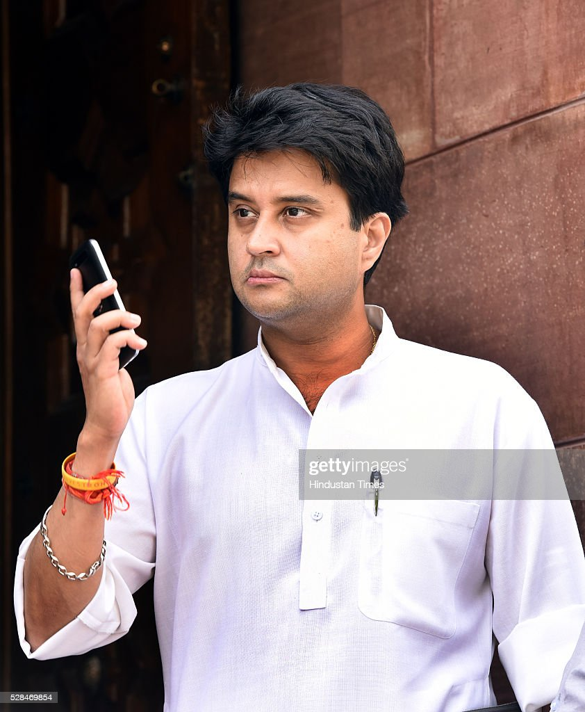 Congress MP from Guna Jyotiraditya Madhavrao Scindia during the Parliament Session at Parliament house on May 5, 2016 in New Delhi, India. The Lok Sabha has passed the Insolvency and Bankruptcy code 2016 with all the amendments proposed by the joint committee of Parliament being accepted by the government.