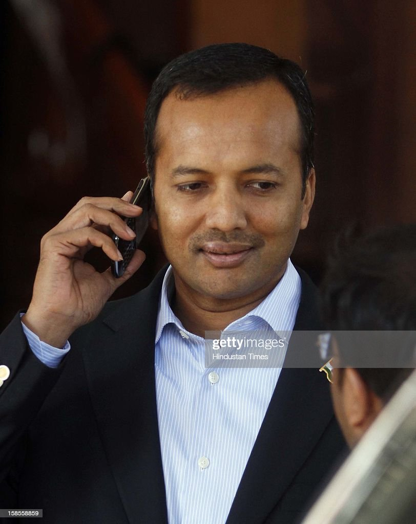 Congress MP Naveen Jindal during the winter session of Parliament at Parliament House on December 19, 2012 in New Delhi, India.