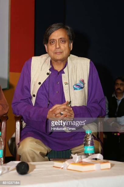 Congress MP Shashi Tharoor during the launch of a book 'The Nation as Mother And Other Visions of Nationhood' by historian and politico Sugata Bose...