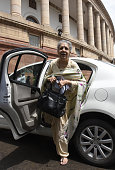 Congress New Rajya Sabha MP Ambika Soni during the Parliament Monsoon Session on July 18 2016 in New Delhi India A total of 25 bills including the...