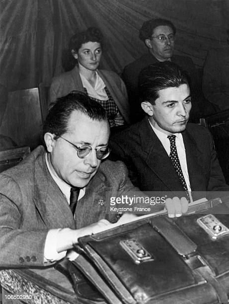 Congress Of The Italian Young Communists With The Head Of The Party Palmiro Togliatti And The Young Enrico Berlinguer Considered Then As His...