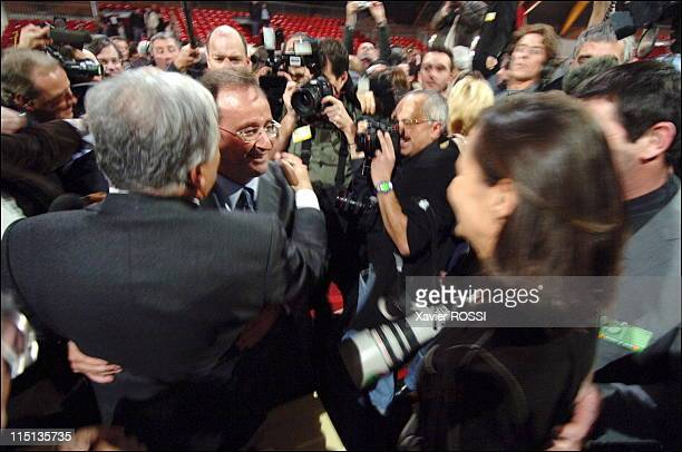 Congress of the Socialist Party in Le Mans France on November 20 2005 Francois Hollande and Segolene Royal