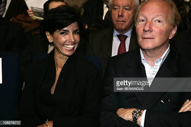 Congress of the UMP Rachida Dati and Brice Hortefeu attend the meeting of The Rightwing Union for a Popular Movement party in Paris France on January...