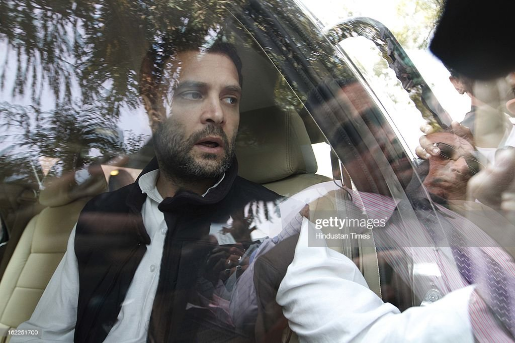 Congress Party Vice President Rahul Gandhi at the Parliament house, beginning of the budget session on February 21, 2013 in New Delhi, India.