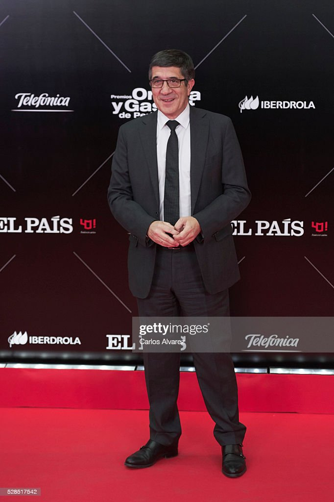 Congress President Patxi Lopez attends 'Ortega Y Gasset' journalism awards 2016 at Palacio de Cibeles on May 05, 2016 in Madrid, Spain.