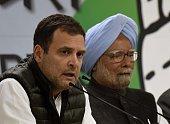 IND: Congress President Rahul Gandhi Addresses Media Personnel Over Pulwama Terror Attack