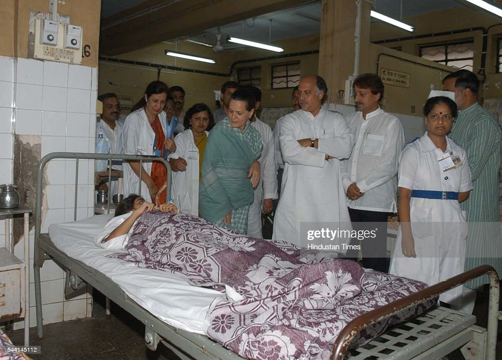 Congress president Sonia Gandhi visited Saki Naka on Saturday where almost 80 people died due to landslide during heavy rains.