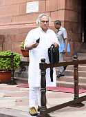 Congress Rajya Sabha MP Jairam Ramesh during the Parliament Monsoon Session on July 18 2016 in New Delhi India A total of 25 bills including the...