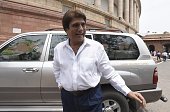 Congress Uttar Pardesh President and Member of the Upper House of the Indian Parliament Raj Babbar during the Parliament Monsoon Session on July 18...