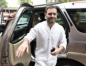 Congress Vice President and Lok Sabha MP Rahul Gandhi arrives for attending the Parliament Monsoon Session on July 25 2016 in New Delhi India Lok...