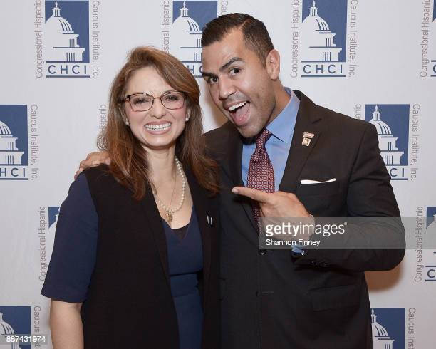 Congressional Hispanic Caucus Institute President and CEO Domenika Lynch and actor JW Cortes attend the Congressional Hispanic Caucus Institute...