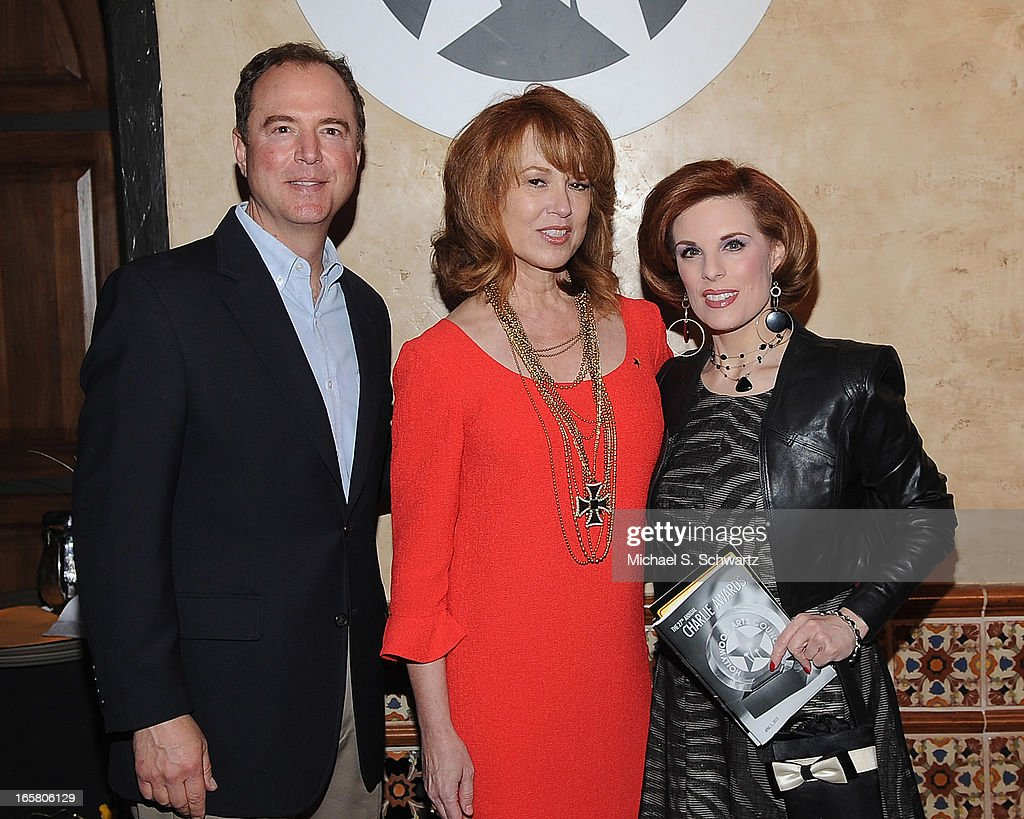 Congressman Adam Schiff, actress Lee Purcell and actress <a gi-track='captionPersonalityLinkClicked' href=/galleries/search?phrase=Kat+Kramer&family=editorial&specificpeople=236074 ng-click='$event.stopPropagation()'>Kat Kramer</a> attend the Hollywood Arts Council's 27th Annual Charlie Awards Luncheon at the Hollywood Roosevelt Hotel on April 5, 2013 in Hollywood, California.