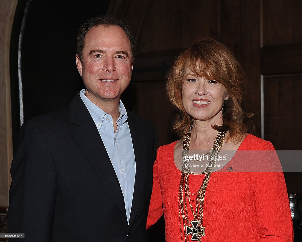 Congressman Adam Schiff (L) and actress Lee Purcell attend the Hollywood Arts Council's 27th Annual Charlie Awards Luncheon at the Hollywood Roosevelt Hotel on April 5, 2013 in Hollywood, California.