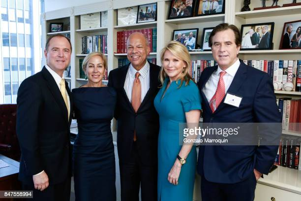 Congressman Adam Schiff Susan DiMarco Jeh Johnson Patricia Duff and Peter Maroney during the The Common Good's presents 'A conversation with...