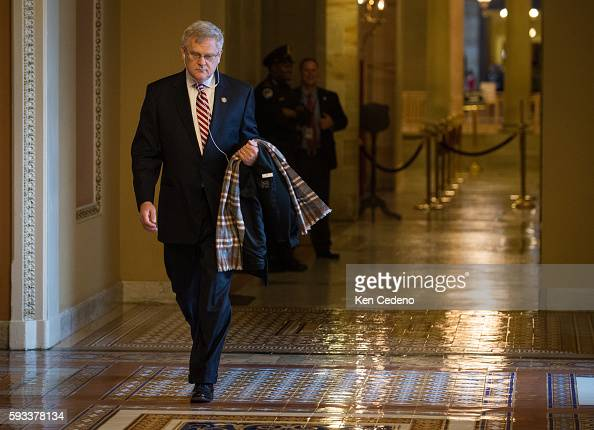 Congressman Alan Nunelee walks on Capitol Hill December 31 2012 in Washington DC while Congressional Leaders try to work out a deal to prevent the...