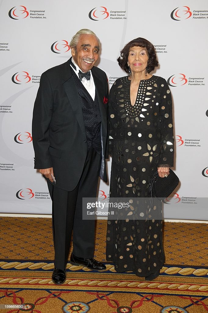 Congressman Charles B. Rangel and Alma Rangel attend the Congressional Black Caucus 2013 Inauguration Celebration at Capital Hilton on January 21, 2013 in Washington, United States.