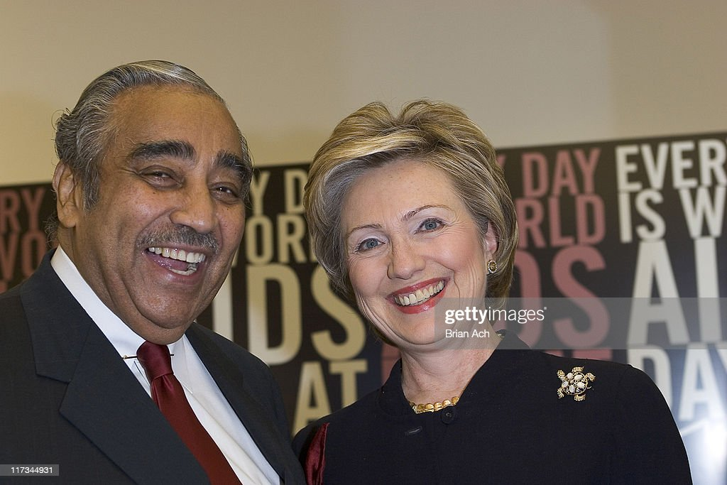 Congressman Charles B. Rangel and Senator <a gi-track='captionPersonalityLinkClicked' href=/galleries/search?phrase=Hillary+Clinton&family=editorial&specificpeople=76480 ng-click='$event.stopPropagation()'>Hillary Clinton</a>