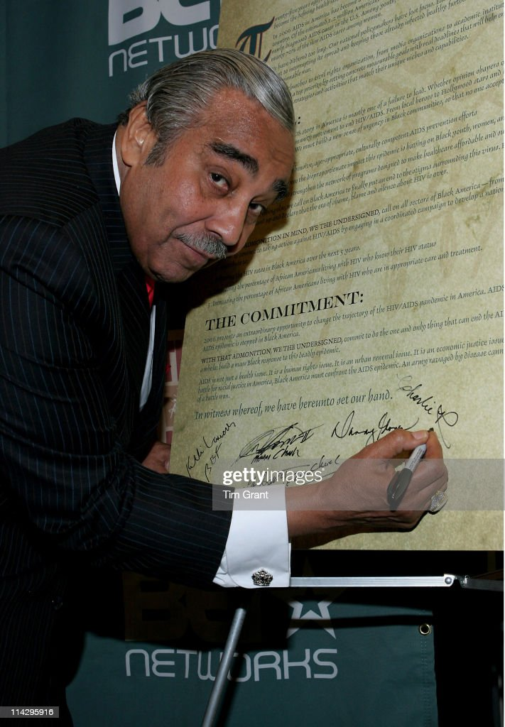 Congressman Charles Rangel during Press Conference Unveiling AIDS in Black Face: 25 Years of an Epidemic - June 5, 2006 at Open Society Institute in New York City, New York, United States.