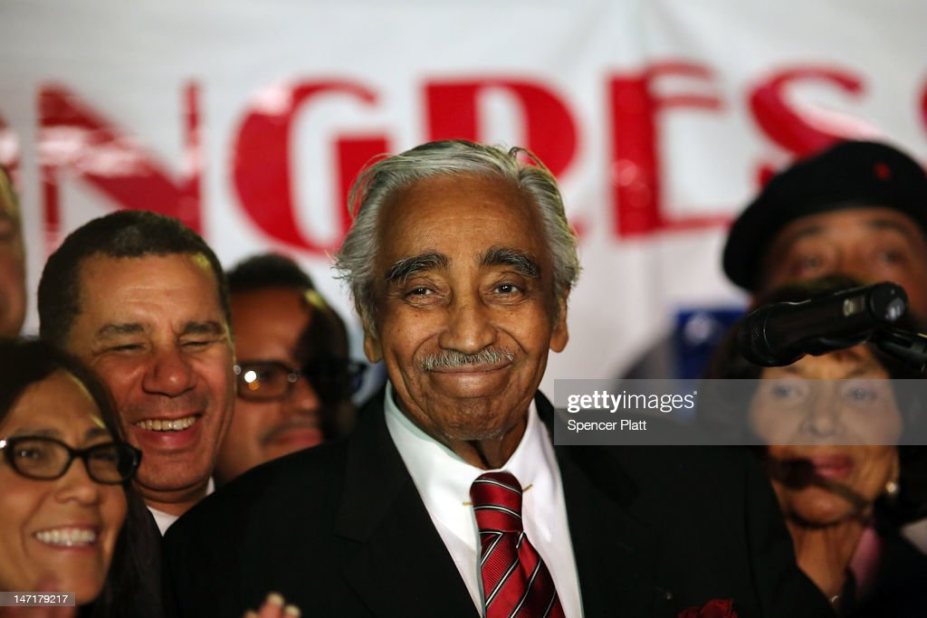 Congressman Charles Rangel speaks after declaring himself the winner in the race for the Democratic primary challenge in New York's 15th congressional district on June 26, 2012 in New York City. After a more than four-decades-long congressional career, Rangel fought for the Democratic nomination in a newly re-drawn congressional district that is no longer dominated by African Americans. The 82-year-old Rangel was locked in a race Tuesday for the nomination in his Harlem-area district with New York state Sen. Adriano Espaillat. Espaillat, a 57-year-old Dominican-American, showed growing popularity in a district that now has more Latino-Americans than African-Americans.