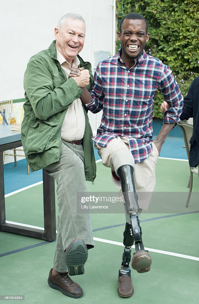 Congressman <a gi-track='captionPersonalityLinkClicked' href=/galleries/search?phrase=Dana+Rohrabacher&family=editorial&specificpeople=2337249 ng-click='$event.stopPropagation()'>Dana Rohrabacher</a> and United States Paralympic athlete <a gi-track='captionPersonalityLinkClicked' href=/galleries/search?phrase=Blake+Leeper&family=editorial&specificpeople=7449993 ng-click='$event.stopPropagation()'>Blake Leeper</a> attend Bob And Kira Reed Lorsch Host New Year's Day 2015 At LorschVille on January 1, 2015 in Los Angeles, California.