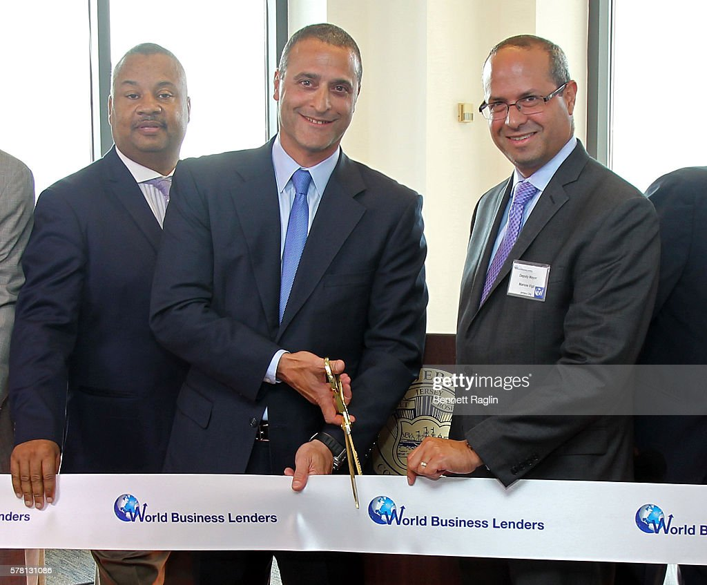 world business lenders ribbon cutting in jersey city photos and u s congressman donald payne jr doug naidus ceo of world business lenders