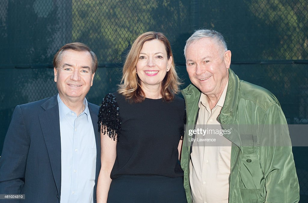 Congressman Ed Royce with wife Marie Royce and congressman <a gi-track='captionPersonalityLinkClicked' href=/galleries/search?phrase=Dana+Rohrabacher&family=editorial&specificpeople=2337249 ng-click='$event.stopPropagation()'>Dana Rohrabacher</a> attend Bob And Kira Reed Lorsch Host New Year's Day 2015 At LorschVille on January 1, 2015 in Los Angeles, California.