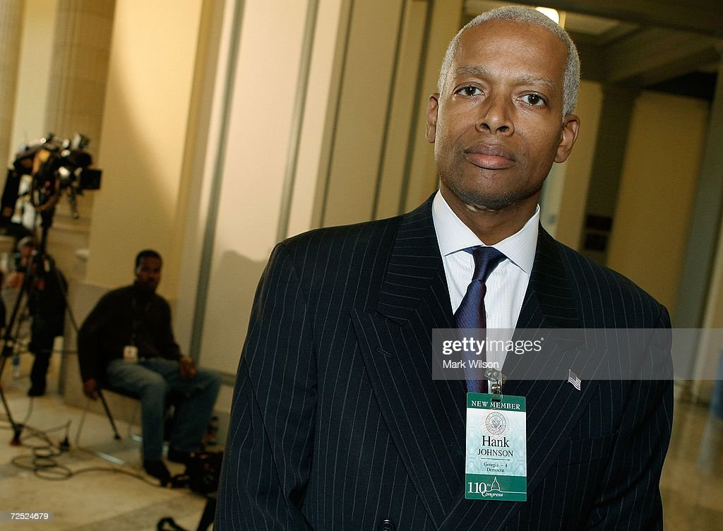Congressman elect Hank Johnson poses for a picture during a break in his orientation class on Capitol Hill November 13 2006 in Washington DC The...