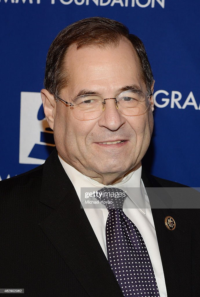 Congressman <a gi-track='captionPersonalityLinkClicked' href=/galleries/search?phrase=Jerrold+Nadler&family=editorial&specificpeople=807892 ng-click='$event.stopPropagation()'>Jerrold Nadler</a> arrives at the 57th Annual GRAMMY Awards Entertainment Law Initiative Luncheon at the Fairmont Hotel on February 6, 2015 in Santa Monica, California.
