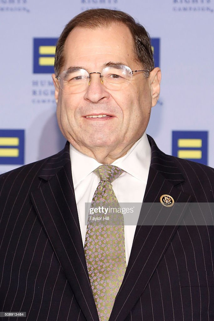 Congressman <a gi-track='captionPersonalityLinkClicked' href=/galleries/search?phrase=Jerrold+Nadler&family=editorial&specificpeople=807892 ng-click='$event.stopPropagation()'>Jerrold Nadler</a> attends the 2016 HRC New York Gala Dinner at The Waldorf=Astoria on February 6, 2016 in New York City.