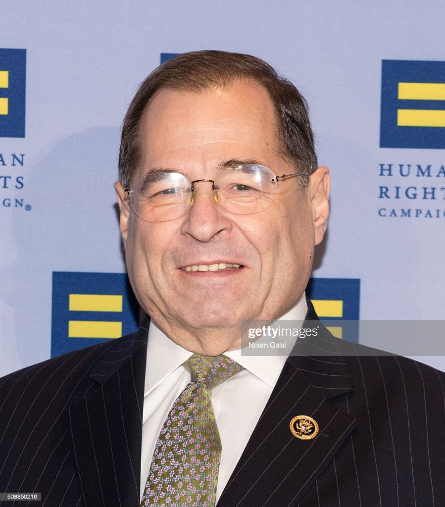 Congressman <a gi-track='captionPersonalityLinkClicked' href=/galleries/search?phrase=Jerrold+Nadler&family=editorial&specificpeople=807892 ng-click='$event.stopPropagation()'>Jerrold Nadler</a> attends the 2016 Human Rights Campaign New York gala dinner at The Waldorf=Astoria on February 6, 2016 in New York City.