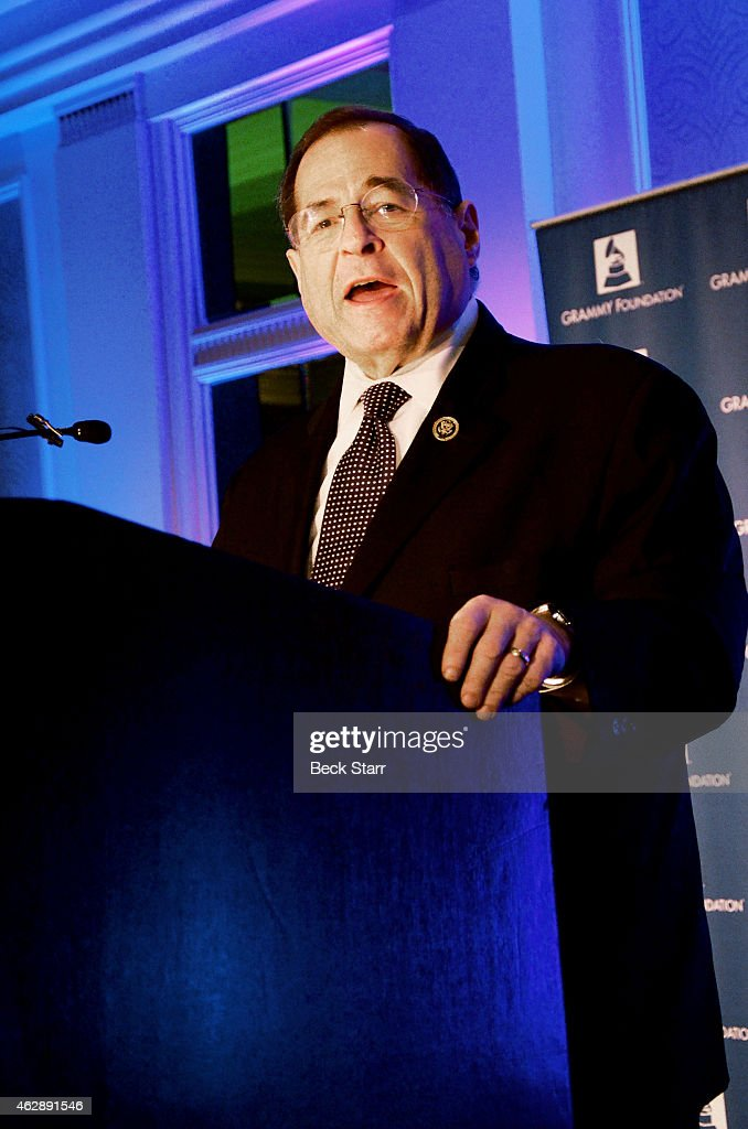 Congressman <a gi-track='captionPersonalityLinkClicked' href=/galleries/search?phrase=Jerrold+Nadler&family=editorial&specificpeople=807892 ng-click='$event.stopPropagation()'>Jerrold Nadler</a> speaks at the 17th Annual Entertainment Law Initiative Luncheon & Scholarship Presentation highlighted by the Grammy Foundation at Fairmont Miramar Hotel on February 6, 2015 in Santa Monica, California.