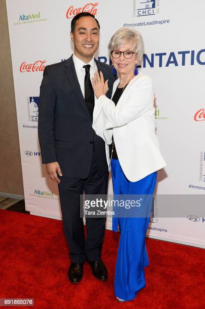 Congressman Joaquin Castro and actress Rita Moreno attend CHCI Honors Norman Lear Then And Now A Transformative Conversation at City Club Los Angeles...