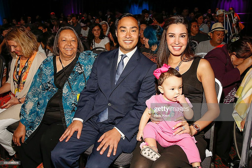 U.S. Congressman Joaquin Castro (C) poses for a photograph with his mother Rosie Castro, wife Anna Castro, and daughter during HBO Latino & Habla Men at People en Español San Antonio Festival at the Henry B Gonzalez Convention Center on August 31, 2014 in San Antonio, Texas.