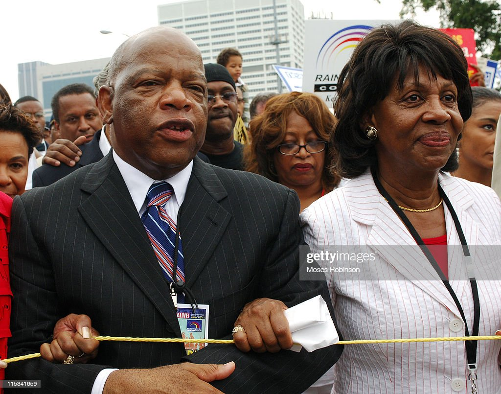 Congressman John Lewis, Congresswoman <a gi-track='captionPersonalityLinkClicked' href=/galleries/search?phrase=Maxine+Waters&family=editorial&specificpeople=220525 ng-click='$event.stopPropagation()'>Maxine Waters</a>