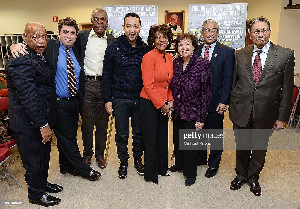 Congressman John Lewis director/writer Eugene Jarecki actor Danny Glover singer John Legend Congresswoman Maxine Waters Congresswoman Nita Lowey...