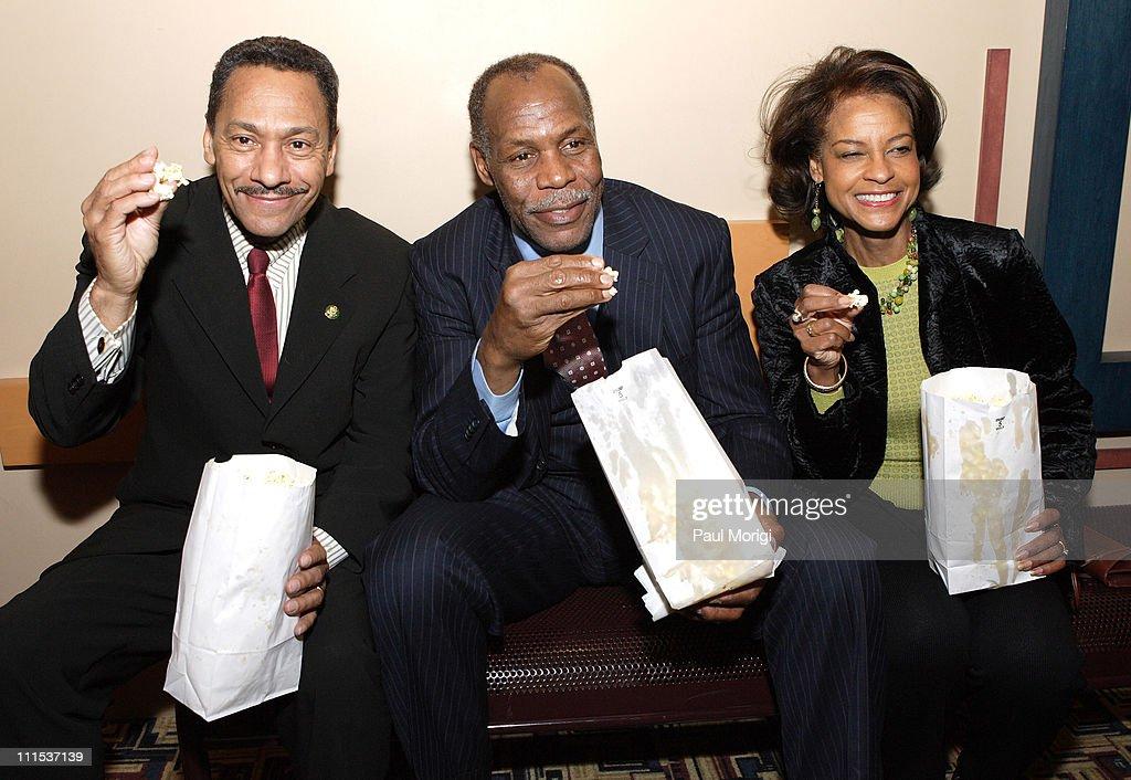 Congressman Mel Watt Danny Glover and Eulanda Watt