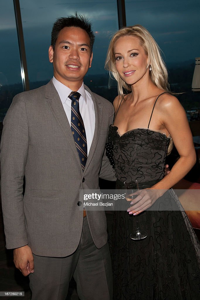 Congressman Mike Aguilera and actress Louise Linton attend Mutt Match LA Fundraiser at Soho House on April 22, 2013 in West Hollywood, California.