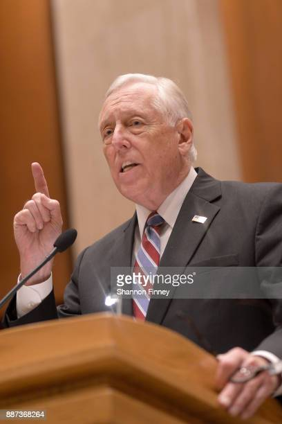 Congressman Steny Hoyer addresses the Congressional Hispanic Caucus Institute Holiday Reception benefitting Puerto Rico youth at the Library of...